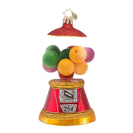 Yum Yum Bubblegum Machine Radko Ornament